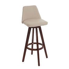 Tabouret de bar Boras chaise de comptoir rotatif ~ crème, pieds foncés