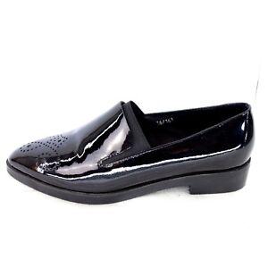 BP Zone Damen Schuhe Damenschuhe Slipper Loafer Halbschuhe Schwarz Lackleder Neu