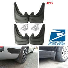 "4PCS 12.6""x8.4"" Universal Black Car Mud Flaps Splash Guards Fender+8x Screws -US"