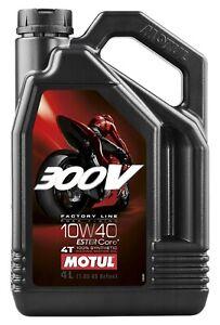 104121 Motul 300V 4T Full Synthetic Motorcycle Oil 10W-40 4 Liter (1.05 Gallon)