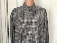 Jos A Bank Shirt Mens Size Large Long Sleeve L Travelers Collection Check