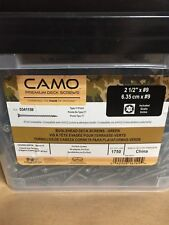 "Camo 2 1/2"" #9 Premium Deck Screws 1750 Screws Type 17 Point New"