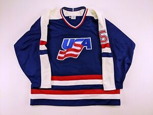 1990s MIKE RAMSEY Team USA GAME ISSUED Hockey Jersey Tackla