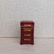 1:12 Dollhouse Miniature Furniture  Mahogany Patch Bedroom Night Stand