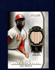 2013 Topps Tier One Relic Lou Brock Game-Used Bat Cardinals #'d 2/399