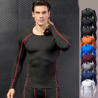 Men's Gym Compression Slim Tight Fitness Base Layer Gym Shirts Cool Dry Tops