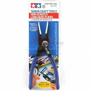 Tamiya #74065 Non-Scratch Long Nose Pliers Craft Tools Plastic Model Clamp