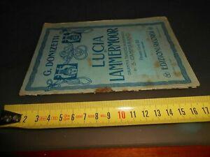 libro: Libretto d'opera LUCIA DI LAMMERMOOR G. DONIZETTI RICORDI