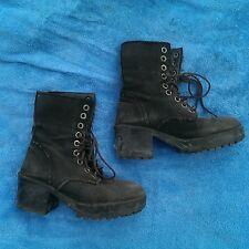 stiefel aus leinen gothic rock metal punk stiefel boots black schwarz grau