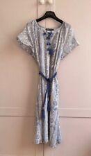 BNWT Antik Batik Dress W Rope Belt Sz M 12, 14, 16 £165 Blue & White