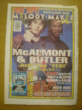 MELODY MAKER 1995 JUN 3 MCALMONT AND BUTLER PULP SUEDE