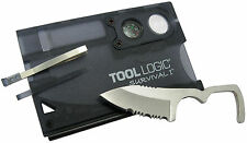 "S.O.G. SOG Tool Logic Survival Card With 2"" Blade Firestarter And Compass SVC1"