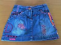 Girls M&S Blue Denim Skirt Embroidered Age 5 Years Summer Holiday B43