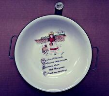 "Vintage Children's warming Bowl, ""mary had a little lamb"" Circa 1915"