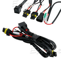 Xenon HID Conversion Light Relay Wiring Harness Kit H1 H3 H7 H8 H9 H11 9006 9005