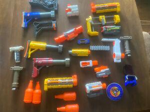 Nerf Blaster Accessory Lot Stock Scope Handle barrel parts Hasbro dart rifle