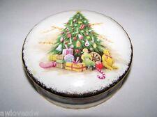 ❤ 1990 RARE ROYAL ALBERT OLD COUNTRY ROSES CHRISTMAS MAGIC ENGLAND TRINKET BOX ❤