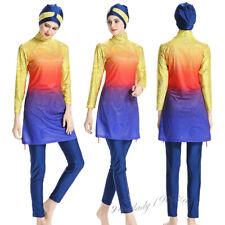 Swimsuit Muslim Women Modesty Swimwear Full Cover Burkini Bathing Suit Beach 3PC