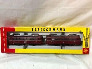 Vintage Fleischmann HO scale Model 4400 VT 98 DB Railbus With Sidecar Train