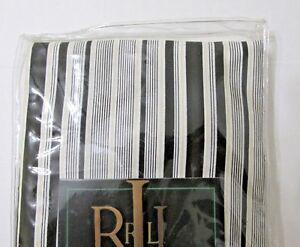 Ralph Lauren Pillow Sham Standard Wiltshire Black Ivory Khaki Stripe Cotton NEW