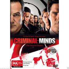 CRIMINAL MINDS (COMPLETE SEASON 2 - DVD SET SEALED + FREE POST)