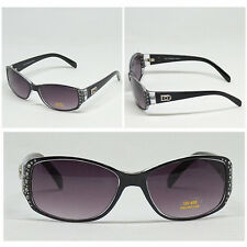 For Women DG Eyewear Rectangular Rhinestones Fashion Sunglasses 398 BLACK bbbbb