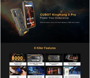 Cubot KingKong 5 Pro Waterproof SmartPhone 8000mAh 48MPSony Camera Android11 i