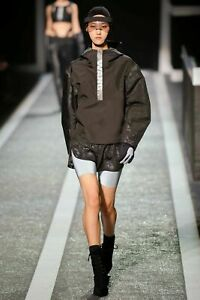 NEW ALEXANDER WANG X H&M Unisex Short Hooded Anorak Windbreaker Jacket