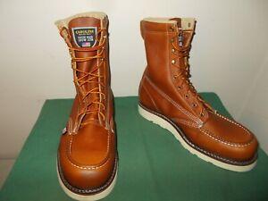 Mens 10 EE Carolina 8 Inch Moc Toe Wedge Work Boot USA Made CA7002 Leather NEW