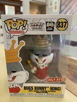 Funko POP! Animation #837 BUGS BUNNY King TARGET Exclusive 2020 NEW MIB