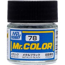 GSI CREOS GUNZE MR HOBBY Color C078 C78 Metallic Black LACQUER PAINT 10ml MODEL
