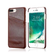 Funda iPhone 7 Plus de piel autentica FLOVEME Original con ranura para tarjetas