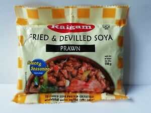Raigam Soya Meat Fried & Devilled Prawn Flavored Sri Lankan Product 110g