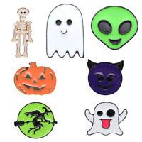 Halloween Ghost Pumpkin Skull Collar Badge Oil Drip Brooch Pin Jewelry Decor
