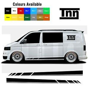 Side Stripes For VW Transporter T5 T6 T4 Stickers Camper Van Decal Vinyl Camper