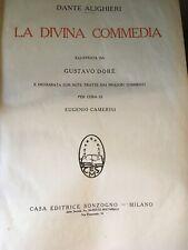 LA DIVINA COMMEDIA DANTE ALIGHIERI Illustrata da Gustavo Dorè SONZOGNO 1937