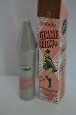 BNIB Benefit Gimme Brow + in 3 Neutral Light Brown travel size 1g