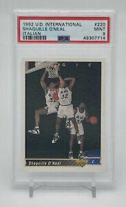 1992 Upper Deck Shaquille O'Neal Shaq PSA 9 Mint Rookie Italian LOW POP Invest