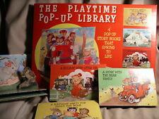 THE PLAYTIME POP-UP BOOKS IN ORIGINAL BOX 1963 PLATT & MUNK SET OF 4