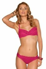 BECCA Crochet 2 PC Bikini Large Underwire Top & Medium Bottom