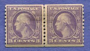 US STAMPS SCOTT 494 MLH LINE PAIR VF MINT HINGED SOUND