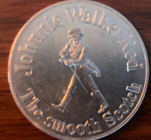 1972 JOHNNIE WALKER RED CHICAGO BEARS SCHEDULE MEDALLION COIN