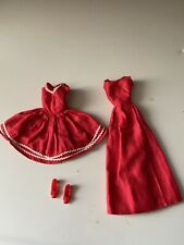 vintage barbie clothing with shoes made in japan red 4 pc lot dresses gown 1960s