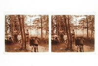 Francia Vacanze Foto Amateur Francesi Stereo Placca Da Lente Positivo Vintage