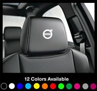 5x VOLVO Logo Headrest Car Seat Decals Badge Vinyl Stickers R c30 v40 v60 s60 xc