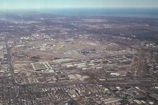 Aerial View of Chicago O'Hare International Airport, Illinois, Plane -- Postcard