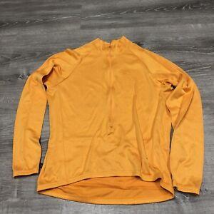 Cannondale men's long sleeve bicycling jacket Jersey Size XXL Orange