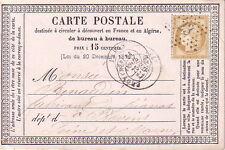 PARIS - ETOILE 23 - R.  ALIGRE - LE 11-4-1873 - N°59 CERES SUR CARTE PRECURSEUR