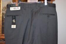 LAUREN RALPH LAUREN Dark Olive Flat Front Men's SZ 34 x 34 Pant Trouser NWT $125