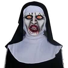 FANCY DRESS HALLOWEEN COSTUME CURSE OF THE NUN MASK BLACK WHITE SPOOKY FULL FACE